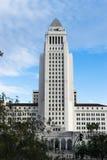 Los Angeles Kalifornien, USA i stadens centrum cityscape på stadshuset fotografering för bildbyråer