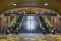 Los Angeles, Kalifornien, USA - 4. Januar 2019: Metro-Station Hollywood/Rebe lizenzfreie stockbilder