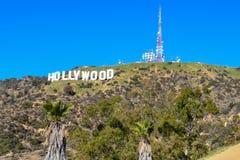 Los Angeles Kalifornien, USA - Januari 4, 2019: GränsmärkeHollywood för värld det berömda tecknet royaltyfri bild