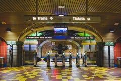 Los Angeles Kalifornien, USA - Januari 4, 2019: Tunnelbanastation Hollywood/vinranka arkivfoto