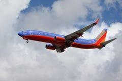 Southwest Airlines krigare en 737-800 Arkivbilder