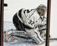 Los Angeles Kings goaltender Jonathan Quick Royalty Free Stock Photos