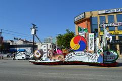 Los Angeles Korea Festival Parade Float 2015. The Korea Times Newspaper float Royalty Free Stock Photo