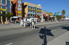 Los Angeles Korea Festival Parade 2015. Horse and carriage at L.A. Korea Frestival Stock Images
