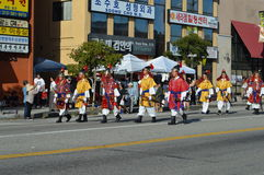 Los Angeles Korea Festival Parade 2015. Joseon Old Korean soldiers Los Angeles Korean Festival Royalty Free Stock Image