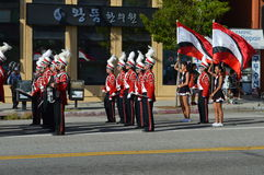 Los Angeles Korea Festival Parade 2015. Marching band Los Angeles Korean Festival Stock Images