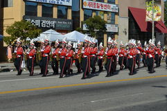 Los Angeles Korea Festival Parade 2015. Marching band Los Angeles Korean Festival Stock Image
