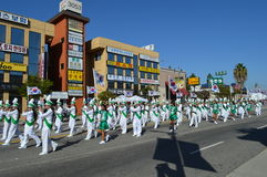 Los Angeles Korea Festival Parade 2015. Marching band at LA Korea Festival 2015 Stock Images