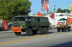 Los Angeles Korea Festival Parade 2015. Truck transport soldiers Los Angeles Korean Festival Royalty Free Stock Images