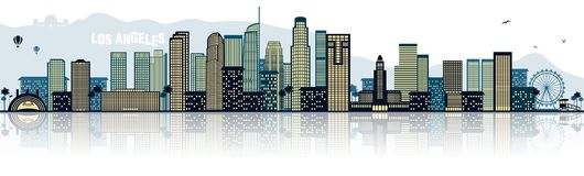 Los Angeles L.A. USA america skyline isolated vector