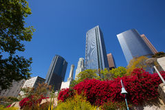Los Angeles LA downtown at Hill street Stock Images