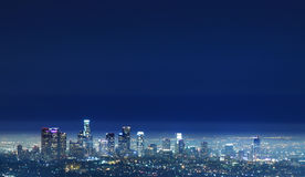 Los Angeles - LA Downtown Night View from Griffith. This photo was taken in Griffith Observatory, Los Angeles Royalty Free Stock Image