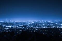 Los Angeles la nuit à Photographie stock