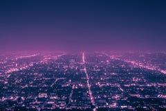 Los Angeles la nuit Photos stock