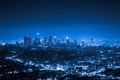 Los Angeles la nuit Photo stock