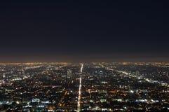 Los Angeles la nuit Images stock