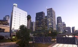 Los Angeles la nuit photographie stock libre de droits
