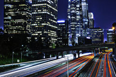 Los Angeles la nuit Photographie stock