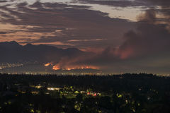 Los Angeles La Tuna Fire Dawn Royalty Free Stock Photography