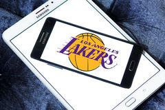 Los Angeles Lakers american basketball team logo Stock Images