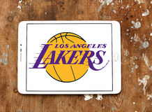 Los Angeles Lakers american basketball team logo Royalty Free Stock Photography