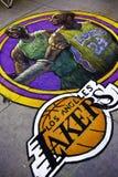 Los Angeles Lakers - Kobe Bryan & granato del Kevin immagini stock libere da diritti