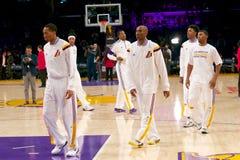 Los Angeles Lakers Warmups Royalty Free Stock Photos