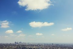 Los Angeles landscape and blue sky Royalty Free Stock Photo