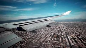 Los Angeles Landung über LA stock footage