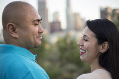 Los Angeles Latin Couple Stock Images