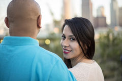 Los Angeles Latin Couple Royalty Free Stock Image