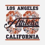 Los Angeles-Leichtathletik, Typografiestempel, Kalifornien-T-Shirt vect Lizenzfreies Stockfoto
