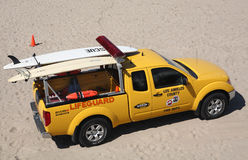 Los Angeles Lifeguard. Los Angeles County Fire Department Lifeguard vehicle parked on Manhattan Beach Stock Photography