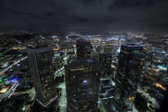 Los Angeles lights royalty free stock image
