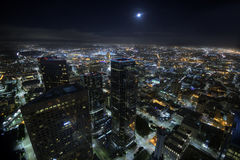 Los Angeles lights stock images