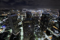 Los Angeles lights royalty free stock images