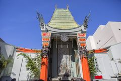 Los Angeles,Los Angeles, USA, 2016:02:24. Grauman`s Chinese theater. Royalty Free Stock Photo
