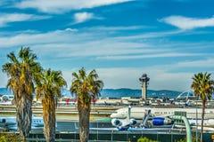 Los Angeles lotniska międzynarodowego fartuch zdjęcia royalty free