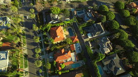 Los Angeles Luchtbeverly hills stock video