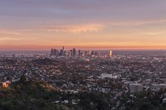Los Angeles Magic Hour Royalty Free Stock Image