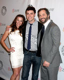 John Francis Daley,Judd Apatow,Linda Cardellini Royalty Free Stock Photo