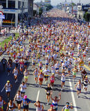 Los Angeles Marathon. Runners in Los Angeles Marathon, California Stock Images