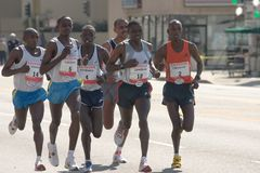 Los Angeles Marathon Elite Runners Stock Images