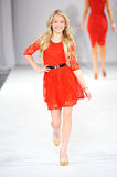 Los Angeles - March 14: Celebrities walk the runway at GO RED in support of American Heart association. During STYLE Fashion Week at Vibiana Cathedral on March Royalty Free Stock Images