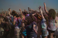 People celebrate Holi Festival Of Colors Royalty Free Stock Photo