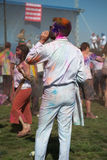 People celebrate Holi Festival Of Colors Royalty Free Stock Images