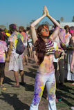 People celebrate Holi Festival Of Colors Stock Photos