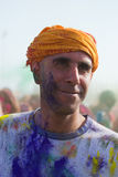 People celebrate Holi Festival Of Colors Royalty Free Stock Photography