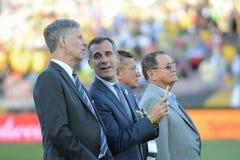 Los Angeles Mayor Erick Garcetti podczas Copa Ameryka Centenario Zdjęcia Royalty Free