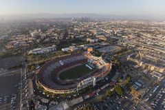 Los Angeles Memorial Coliseum Aerial View Royalty Free Stock Images